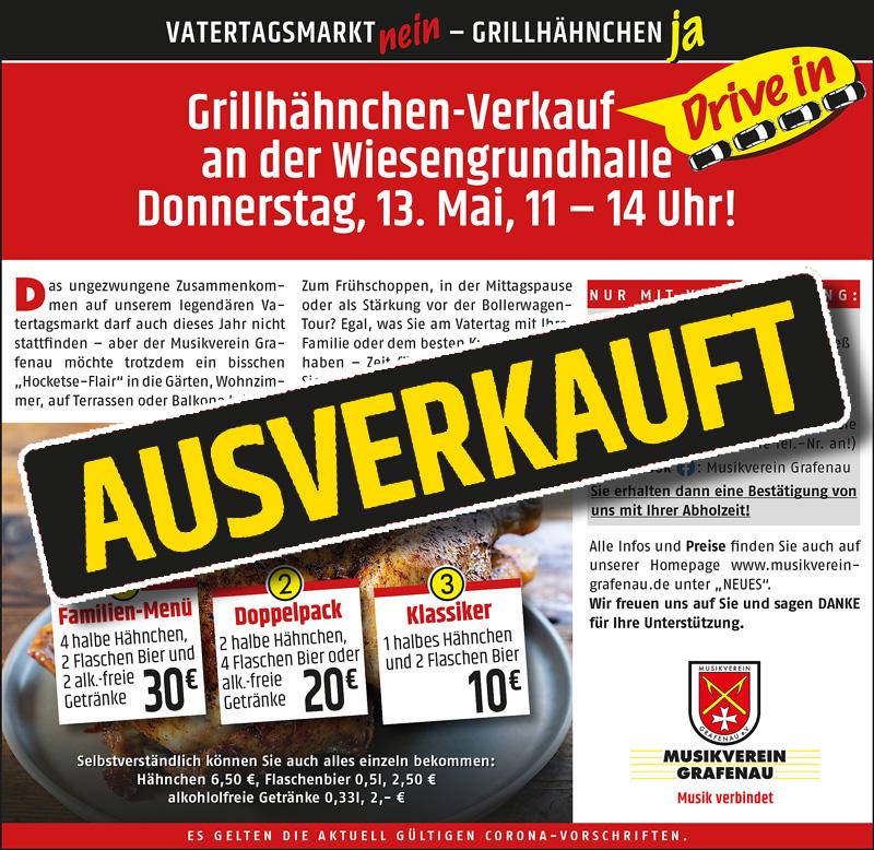 DRIVE IN-GRILLHÄHNCHEN-VERKAUF